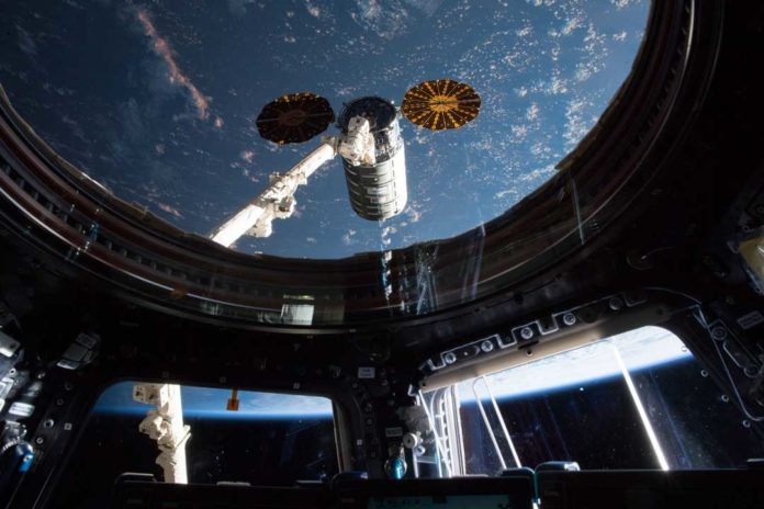 The International Space Station, shown here in 2018, is home to many scientific experiments, including NASA's Cold Atom Laboratory. Credit: NASA
