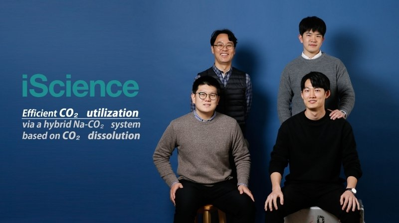 From upper left side (clockwise) are Professor Guntae Kim, Sangwook Joo, Jeongwon Kim, and Changmin Kim in the School of Energy and Chemical Engineering at UNIST.