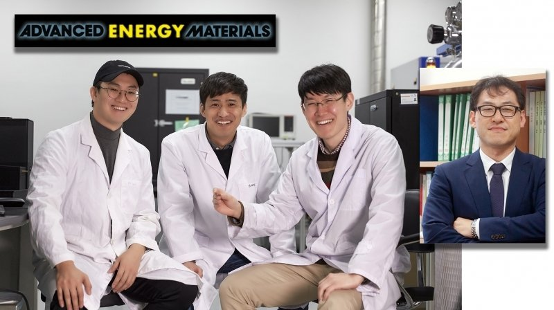 From left are Kwang Min Kim, Byung‐Man Kim, HyeonOh Shin, and Professor Tae‐Hyuk Kwon in the School of Natural Science at UNIST.