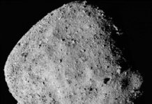 This mosaic image of asteroid Bennu is composed of 12 PolyCam images collected on Dec. 2 by the OSIRIS-REx spacecraft from a range of 15 miles (24 km). Credits: NASA/Goddard/University of Arizona