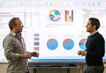 n their simulation, Prof. Thomas Auer (l.) and Manuel de-Borja-Torrejón (r.) consider expansion scenarios for renewable energies and the data of the building stock. (Image: A. Eckert / TUM)
