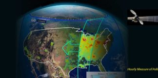 Once in orbit, TEMPO will be the first space-based instrument to monitor major air pollutants across the North American continent hourly during daytime. Credits: SAO