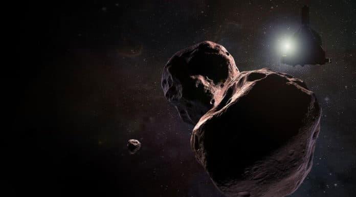 An artist's impression of NASA's New Horizons spacecraft encountering Ultima Thule (2014 MU69), a Kuiper Belt object that orbits one billion miles beyond Pluto, on Jan. 1, 2019. NASA/Johns Hopkins University Applied Physics Laboratory/Southwest Research Institute/Steve Gribben