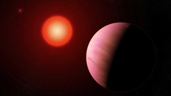 "A newly discovered exoplanet is located within the ""habitable zone,"" where liquid water may exist on the planet's surface. Courtesy of NASA's Goddard Space Flight Center/Francis Reddy"
