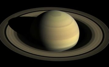 A view from NASA's Cassini spacecraft shows Saturn's northern hemisphere in 2016 as that part of the planet nears its northern hemisphere summer solstice. A year on Saturn is 29 Earth years; days only last 10:33:38, according to a new analysis of Cassini data. Credit: NASA/JPL-Caltech/Space Science Institute