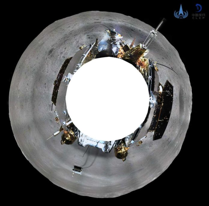 This picture released on January 11, 2019 by the China National Space Administration (CNSA) via CNS shows a 360 degree panoramic image made by China's Chang'e-4 lunar probe on the far side of the moon.(AFP Photo)