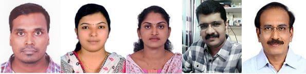 Dr. P.R. Jayachandran, M. Jima, Philomina Joseph, V.F. Sanu, and Dr. S. Bijoy Nandan (L to R)