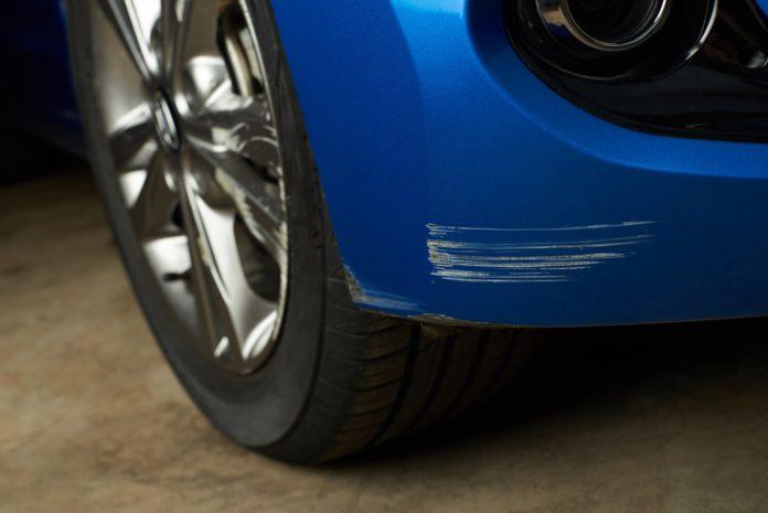 Car with scratch