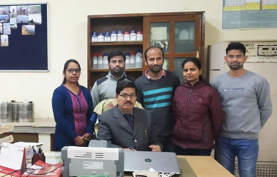 Members of the research team at BHU