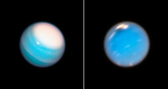 Uranus looking totally messed up right now