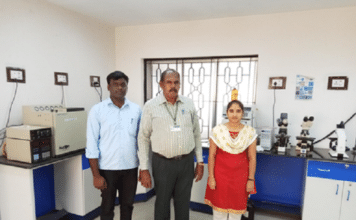 Venkidusamy Keerthika, Prof. Muthuswami Ruby Rajan and Angamuthu Ananth(Left to right)