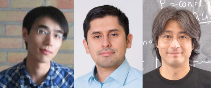 Paper authors (from left) Xiaoyong Chu, Camilo Garcia Cely, and Hitoshi Murayama (Credit from left: Xiaoyong Chu, DESY, Kavli IPMU)