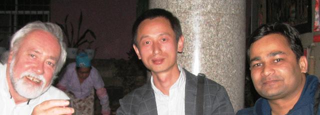 Prof. Robert A. Spicer, Dr. Tao Su and Dr Gaurav Srivasatava (Left to right)