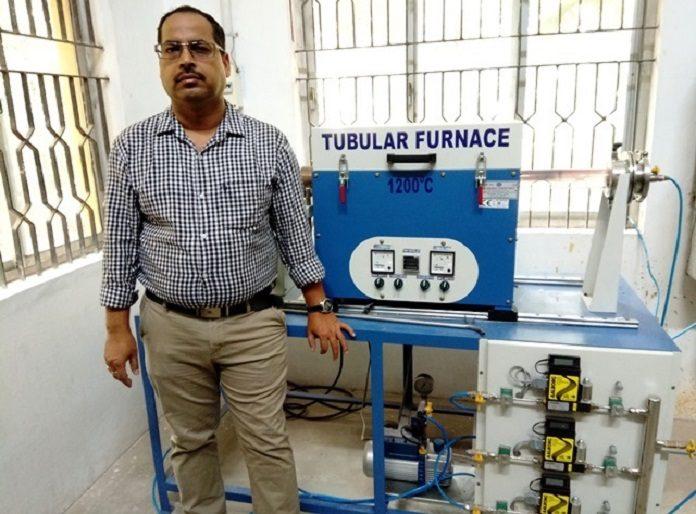 Dr Pramoda Kumar Nayak in his lab at IIT Madras
