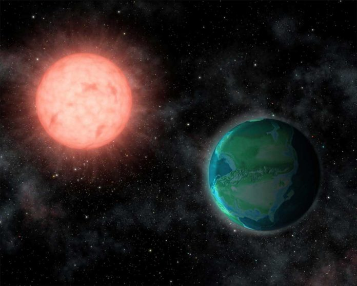 Jack O'Malley-James/Cornell University The intense radiation environments around nearby M stars could favor habitable worlds resembling younger versions of Earth.