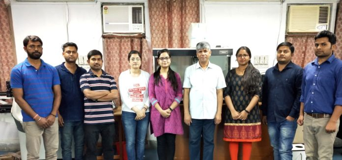Professor Pralay Maiti with his research team at IIT BHU