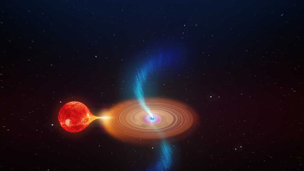 Black hole nine times larger than the sun is pulling in