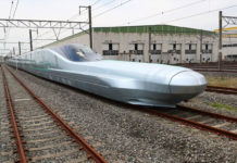 Alfa-X, the fastest-ever shinkansen bullet train,