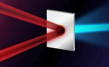 A standard laser generated proton beam is created through firing a laser pulse at a thin metallic foil. The new method involves instead first splitting the laser into two less intense pulses, before firing both at the foil from two different angles simultaneously. When the two pulses collide on the foil, the resultant electromagnetic fields heat the foil extremely efficiently. The technique results in higher energy protons whilst using the same initial laser energy as the standard method. CREDIT Yen Strandqvist/Chalmers University of Technology