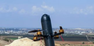 DroneBullet- Hybrid between a Missile and a Quadcopter/ Image: AerialX