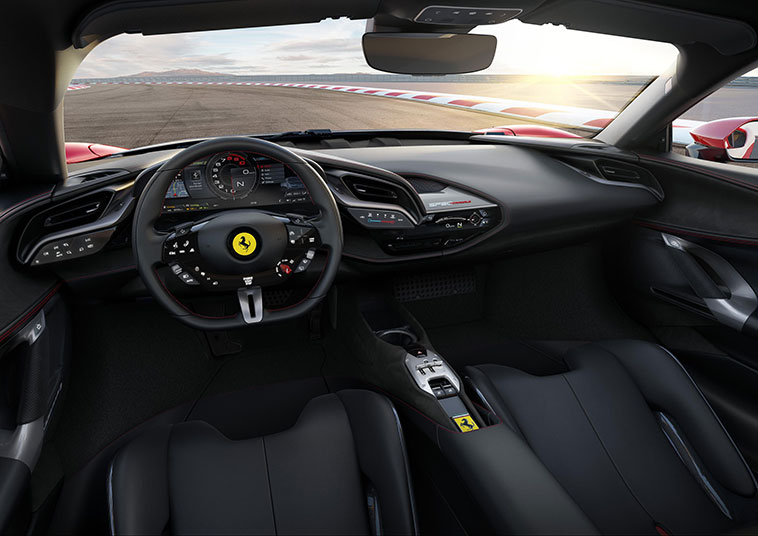 The car has a 16-inch curved display situated behind the steering wheel