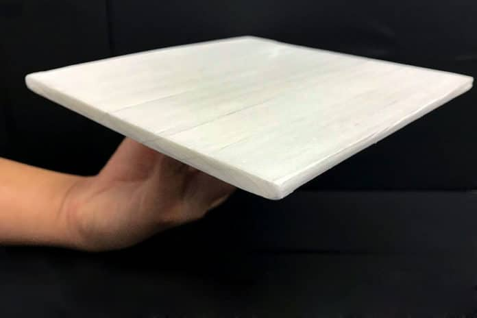 A sample of a new wood that could reduce cooling costs / Image: University of Maryland