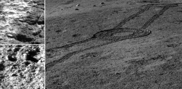 Fig.1: Image captured by Chang'E 4 showed the landscape near the landing site. (Image by NAOC/CNSA)
