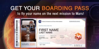 Members of the public who want to send their name to Mars on NASA's next rover mission to the Red Planet (Mars 2020) can get a souvenir boarding pass and their names etched on microchips to be affixed to the rover. Credits: NASA/JPL-Caltech