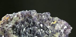 A sample of the mineral lepidolite, a key source of lithium, mined in Finland. Credit: iStock/ekakoskinen