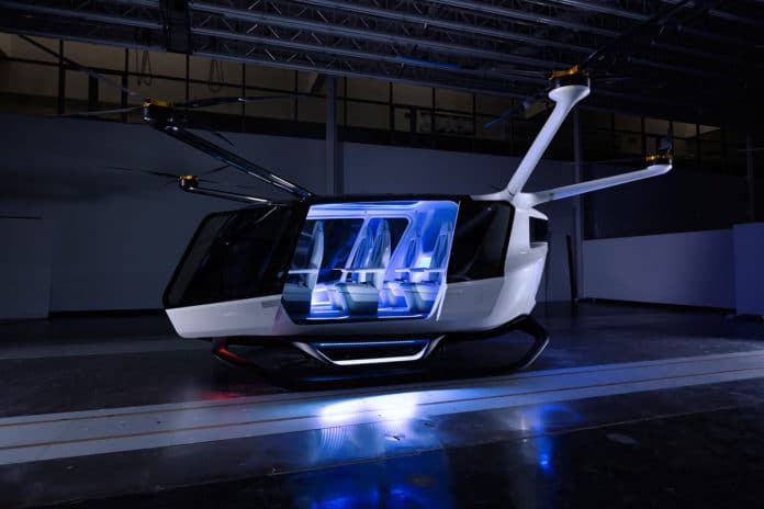 Alaka'i Skai - Hydrogen powered VTOL air taxi/ Image: Alakai