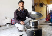 Dhaval with one of the prototypes of the solar stove. Imaget: Dhaval Thakkar