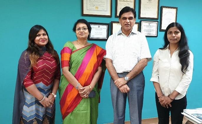 Dr. Pallavi Singhal, Dr.Mausumi Bharadwaj, Prof.Ravi Mehrotra and Dr.Nisha Thakur (Left to Right)