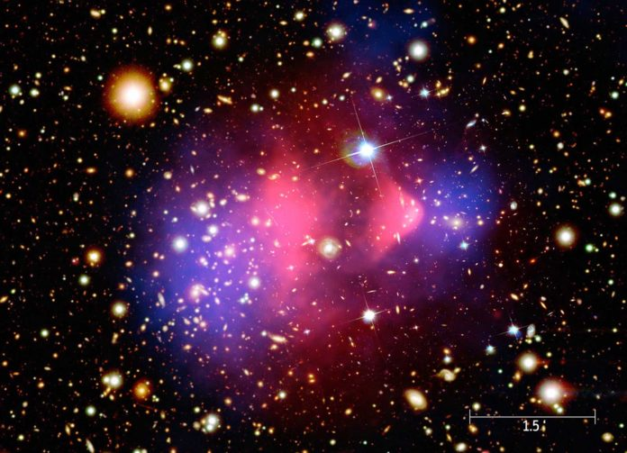 Astronomers discovered two galaxy clusters about to collide