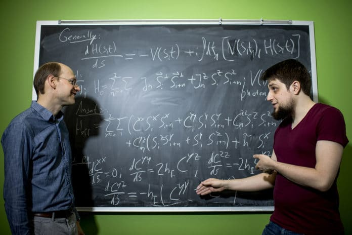 Northeastern physicist Gregory Fiete, left, and his doctoral student Michael Vogl/ Image: Northeastern University