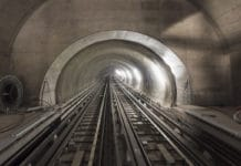 Researchers at EPFL have precisely quantified convection heat transfer in rail tunnels. / Image: EPFL