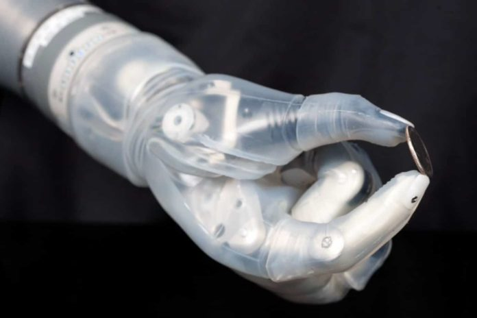 Prosthetic arm can move and feel