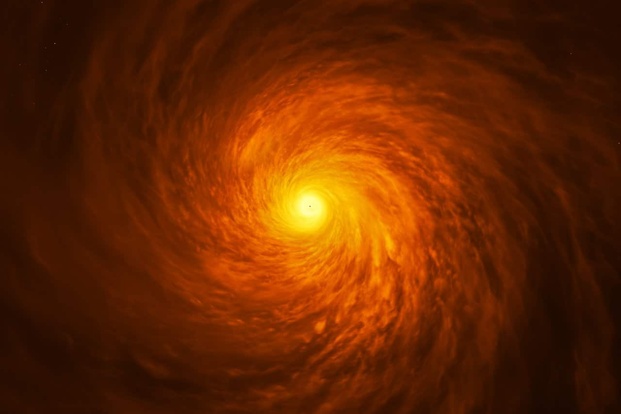 Top-Down view of artist's impression of NGC3147 black hole disc