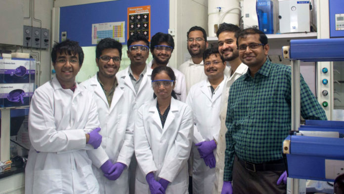 Prof. Vivek Polshettiwar with research team at TIFR, Mumbai