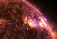 This is a NASA-recorded solar flare. CREDIT NASA