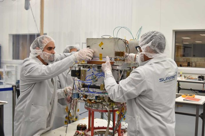 NASA's Deep Space Atomic Clock, the first GPS-like technology for deep space, started its one-year space mission on Friday. If the technology demonstration proves successful, similar atomic clocks will be used to navigate the self-flying spacecraft. Credits: General Atomics Electromagnetic Systems