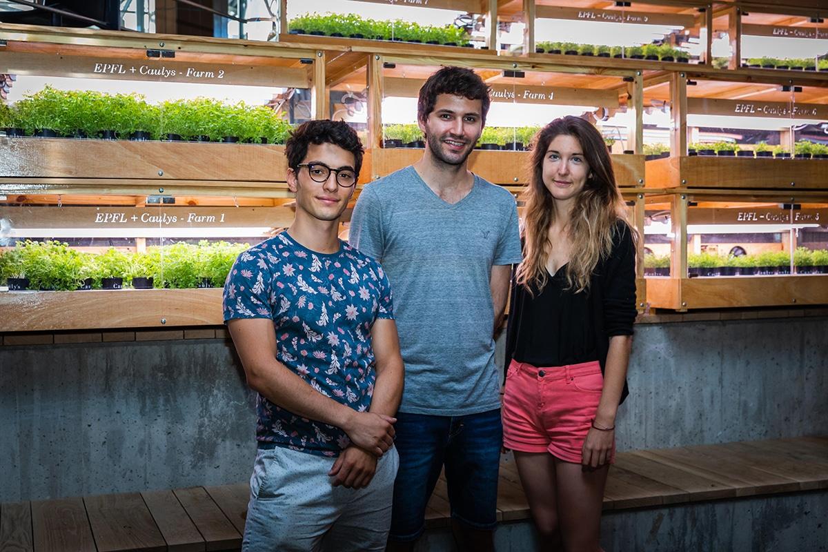 Grégoire Gentile, Tom Lachkar and Mathilde Lorans,membres of Caulys @EPFL 2019 / Jamani Caillet