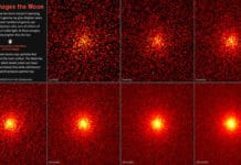 These images show the steadily improving view of the Moon's gamma-ray glow from NASA's Fermi Gamma-ray Space Telescope. Each 5-by-5-degree image is centered on the Moon and shows gamma rays with energies above 31 million electron volts, or tens of millions of times that of visible light. At these energies, the Moon is actually brighter than the Sun. Brighter colors indicate greater numbers of gamma rays. This image sequence shows how longer exposure, ranging from two to 128 months (10.7 years), improved the view. Credits: NASA/DOE/Fermi LAT Collaboration