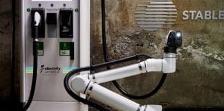 Robotic Fast-Charging Facility for Self-Driving electric vehicle fleets. Image Credit: Electrify America