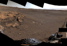 """This panorama of a location called """"Teal Ridge"""" was captured on Mars by the Mast Camera, or Mastcam, on NASA's Curiosity rover on June 18, 2019, the 2,440th Martian day, or sol, of the mission. Credits: NASA/JPL-Caltech/MSSS"""