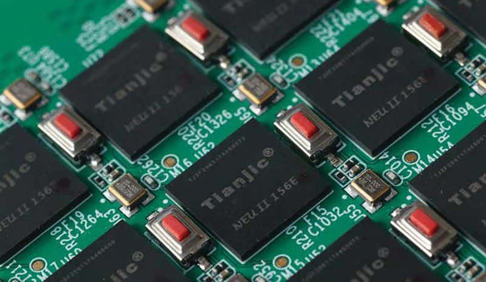 A computer chip, called Tianjic, that shows a hybrid architecture capable of supporting so-called artificial general intelligence.