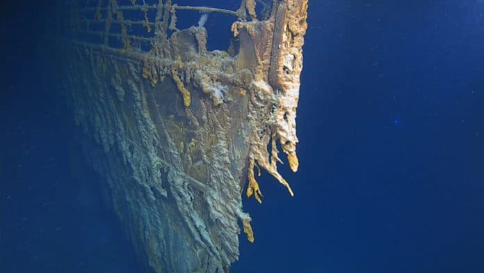 New images show the deterioration of the Titanic wreck. (Atlantic Productions)