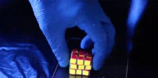A new Rubik's Cube-like structure made of a self-healing hydrogel might inspire new ways to store information and possibly help patients monitor their medical conditions. Image courtesy of Xiaofan Ji.