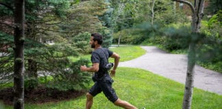 A portable exosuit that uses AI to assist users with both walking and running. / Image Credit: Wyss Institute at Harvard University
