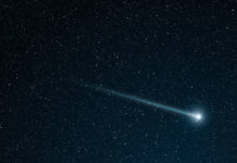 The objects known as shooting stars are actually small meteors burning up as they pass through Earth's atmosphere. If a meteor is large enough, some part of it may reach Earth as a meteorite. New research from Washington University in St. Louis examines the melted rock that cools after such meteorite strikes.(Image: Shutterstock)