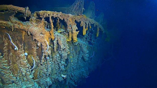 The sub dive revealed that some parts of the Titanic are vanishing